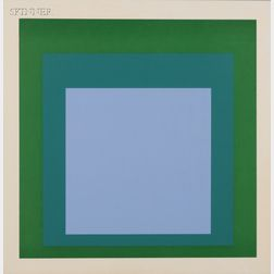 Josef Albers (German, 1888-1976)      Two Images from HOMAGE TO THE SQUARE.