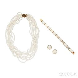 14kt Gold and White Coral Suite, Gump's