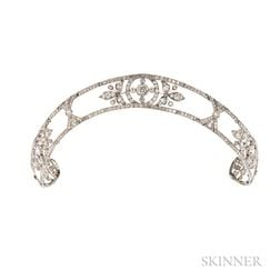 Edwardian Platinum and Diamond Tiara