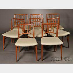 Eight Edward Wormley for Dunbar Dining Chairs