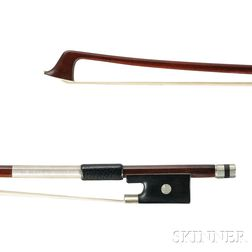 French Silver-mounted Violin Bow, Pierre Cuniot