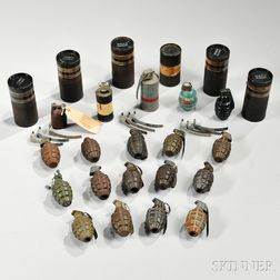 Group of WWII Inert Grenades