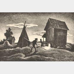 Thomas Hart Benton (American, 1889-1975)      Night Firing