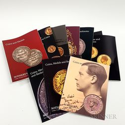 Forty-five Sotheby's Coin, Medal, and Banknote Sale Catalogs