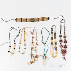 Seven Pieces of Indian Craft Jewelry