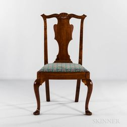 Carved Walnut Side Chair
