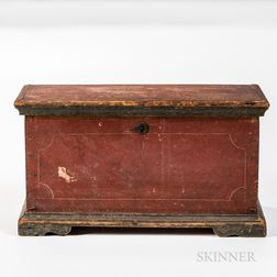 Small Red-painted Chest