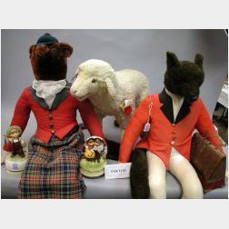 Two Large Dressed Cloth Fox Figures