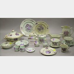 Approximately 100-piece Adams Calyx Ware Partial Dinner Service.
