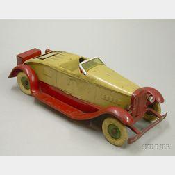 Kingsbury Painted Steel Toy Roadster