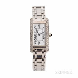 Geneve 18kt White Gold and Diamond Wristwatch