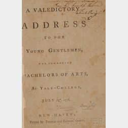 (Yale University), Dwight, Timothy (1752-1817), Presentation copy