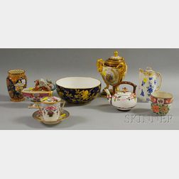 Eight Assorted English and Continental Porcelain Table Items