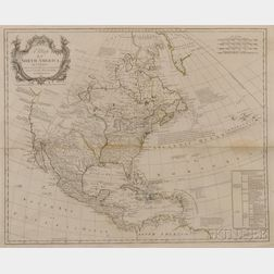 North America. Louis Stanislaus dArcy De La Rochette (1731-1802) A Map of North America by J. Palairet With considerable Alterations &