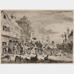 Cornelis Dusart (Dutch, 1660-1704)      The Large Village Dance