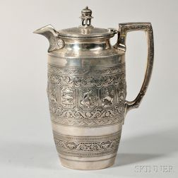 Victorian Scottish Sterling Silver Ewer