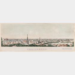 """""""Providence From Prospect Terrace-1877"""" Lithograph"""