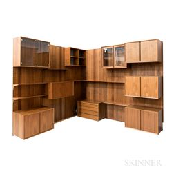 """Poul Cadovius for Royal System """"System Cado"""" Rosewood Wall Furniture"""