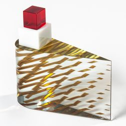Tomas Hlavicka Glass and Gold Leaf Sculpture