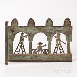 Painted Sheet Iron Builders' Trade Sign