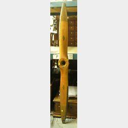 Sensenich Brothers Wood Airplane Propeller