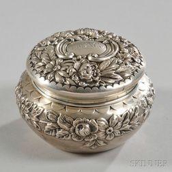 Gorham Sterling Silver Covered Round Dresser Box