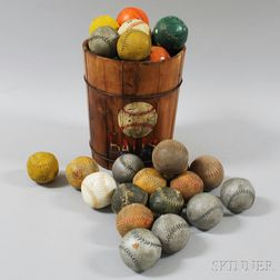 Collection of Vintage Carnival Knock Down Balls
