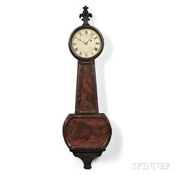 "Currier and Foster Patent Timepiece or ""Banjo"" Clock"