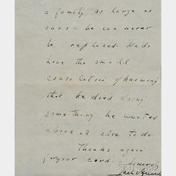 Kennedy, John Fitzgerald (1917-1963) Autograph Letter Signed, Hyannisport, Massachusetts, 1 September 1944.