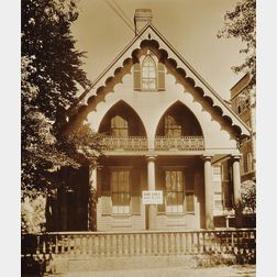 Walker Evans (American, 1903-1975)      Wooden Gothic Revival House, Cambridge, Massachusetts