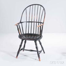 Black-painted Sack-back Windsor Armchair