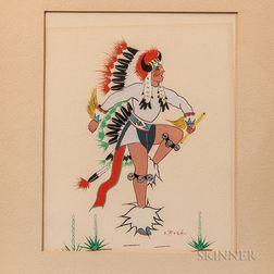 Spencer Asah Indian Dancing Painting