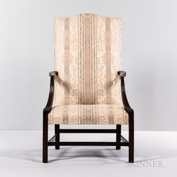 Chippendale Carved Mahogany Lolling Chair