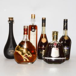 Mixed Cognac, 6 bottles (oc)