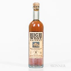 High West 16 Years Old, 1 375ml bottle
