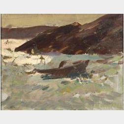 Gifford Beal (American, 1879-1956)  Coastal View