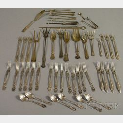 Group of Approximately Forty-eight Miscellaneous American Silver Flatware Items