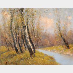 George Loftus Noyes (American, 1864-1954)      Muddy River Olmstead Park