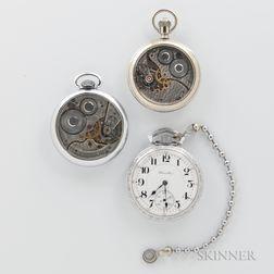 Three Hamilton Open-face Watches