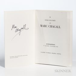 Chagall, Marc (1887-1995) 6 Livres Illustres par Marc Chagall  , Signed by Chagall.