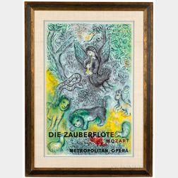 After Marc Chagall (Russian/French, 1887-1985)      Die Zauberflöte, Mozart, Metropolitan Opera
