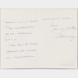 Huxley, Thomas Henry (1825-1895) Autograph Letter Signed, 6 June 1884.