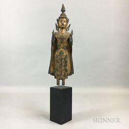Gilt-bronze Buddha Statue