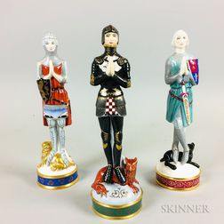 Three Royal Doulton Porcelain Chivalry Figures