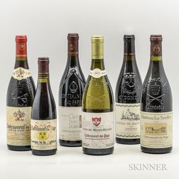 Mixed Rhone Wines, 5 bottles 1 demi bottle