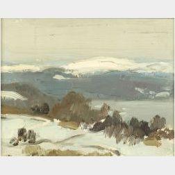 Gifford Beal (American, 1879-1956)  Snowy Peaks