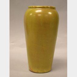 Paul Revere Pottery Gloss Mustard Glazed Vase