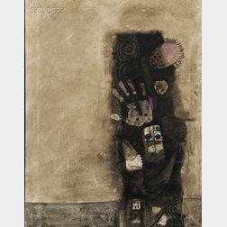 Dia Azzawi (Iraqi, b. 1939)      Masks of Abyss