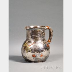 Tiffany & Co. Sterling and Mixed Metal Aesthetic Movement Pitcher