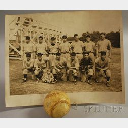 Harwich Cape Cod Baseball League Team Photograph and an Autographed Baseball